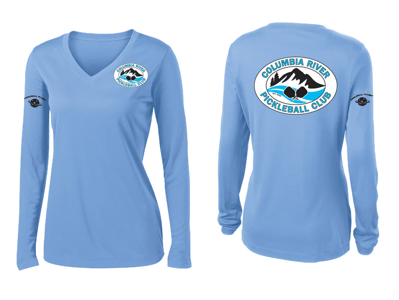Ladies Long Sleeve V- Neck Performance Shirt 'CRPC'