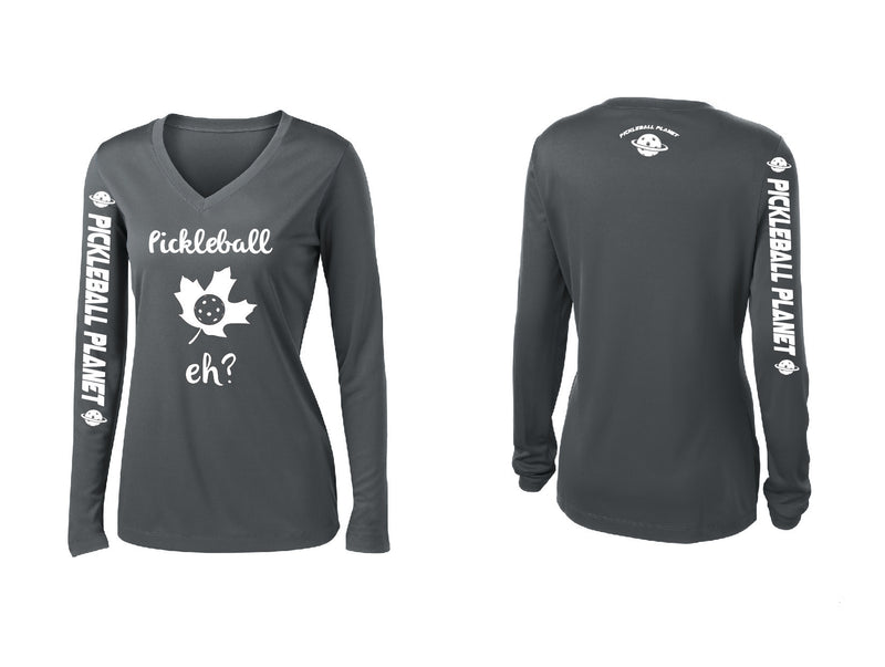 Ladies Long Sleeve Iron Gray Pickleball Eh