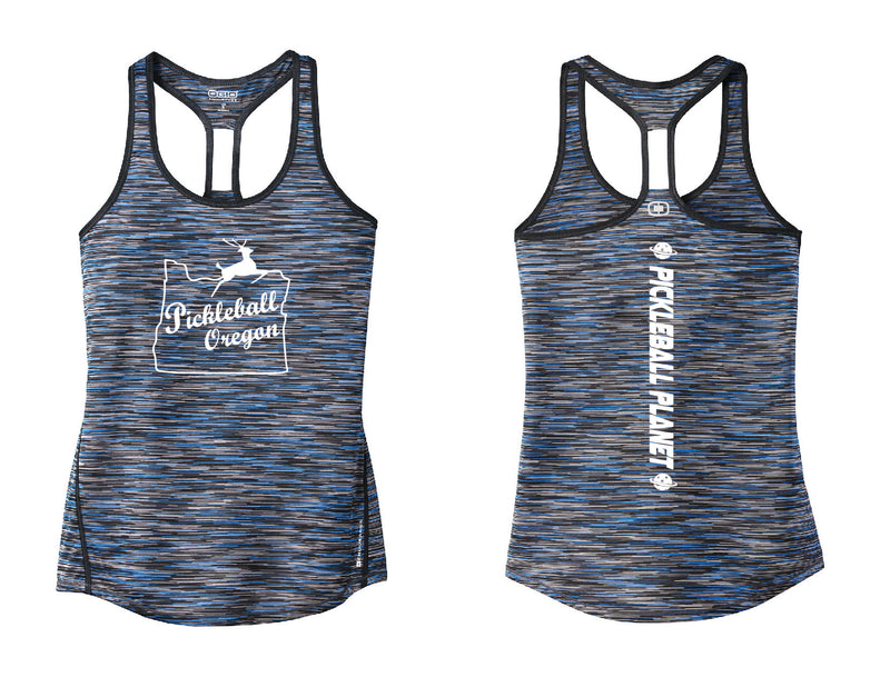 Ladies OGIO Racerback Tank Blue Pickleball Oregon