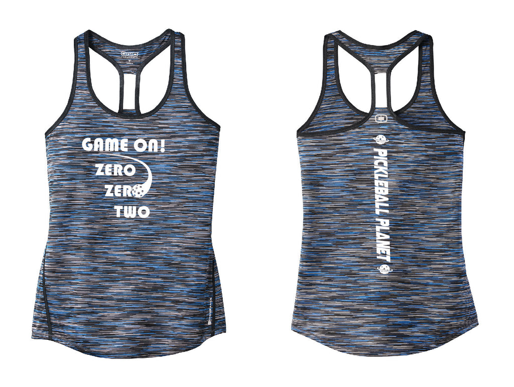 Ladies OGIO Racerback Tank Blue Game On