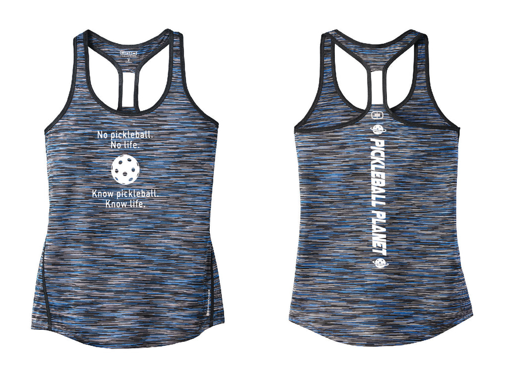 Ladies OGIO Racerback Tank Electric Blue Know Pickleball