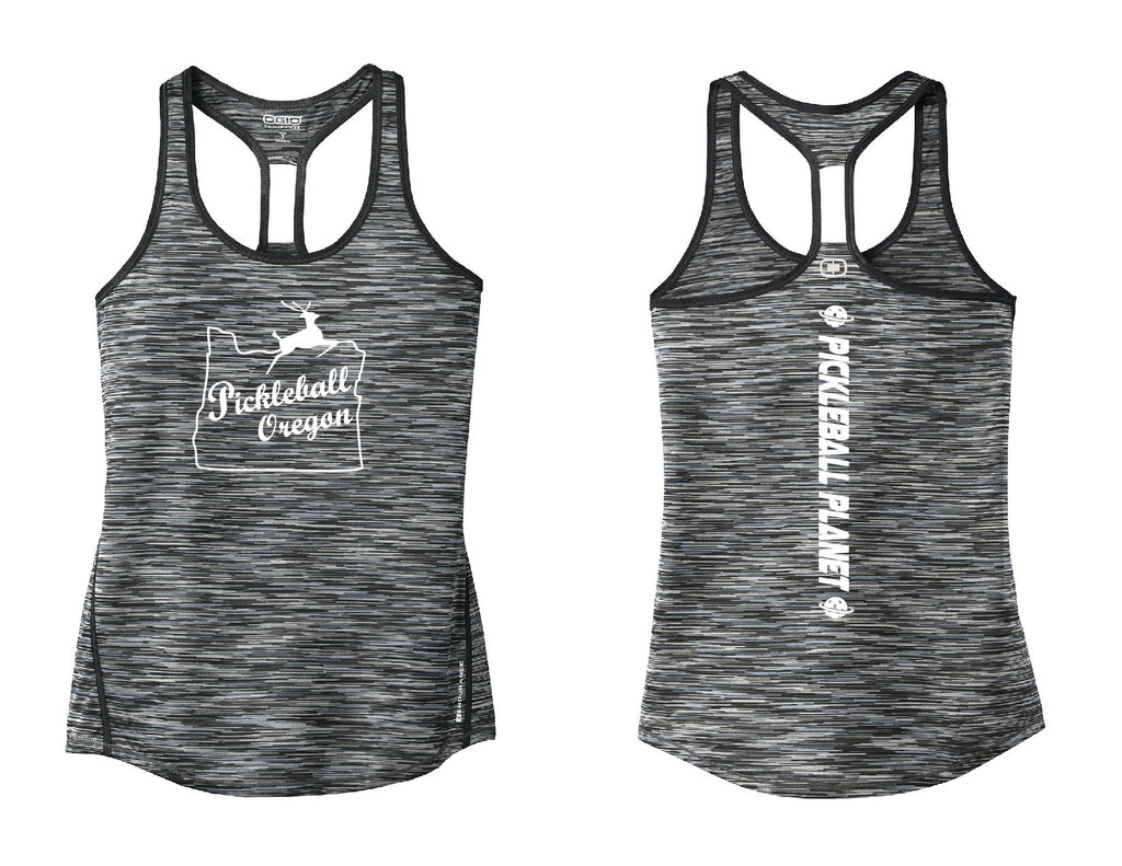 Ladies OGIO Racerback Tank Gray Pickleball Oregon
