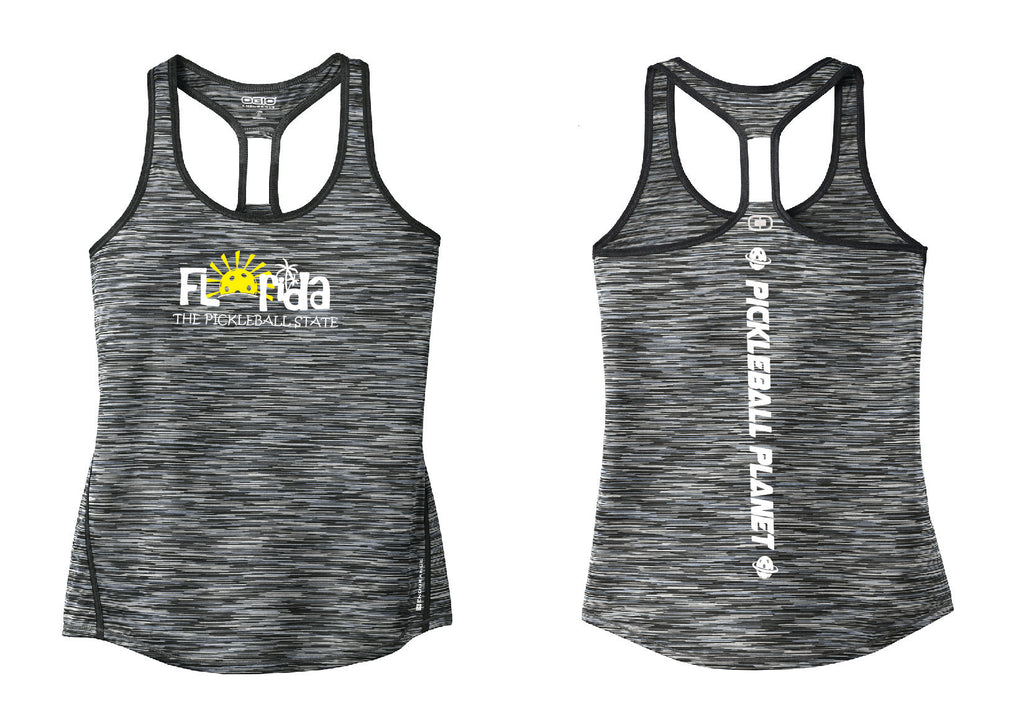 Ladies OGIO Racerback Tank Blacktop Gray Florida