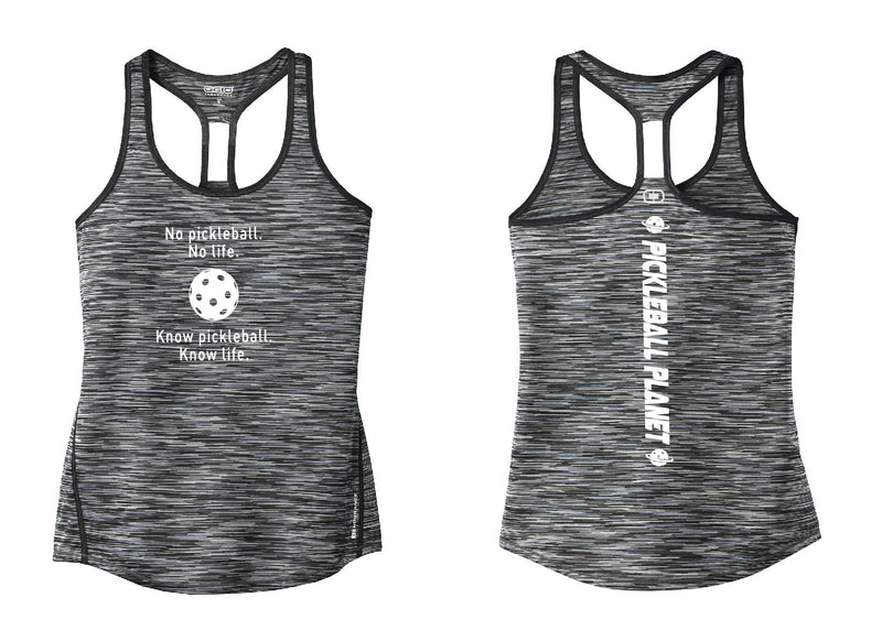 Ladies OGIO Racerback Tank Gray Know Pickleball