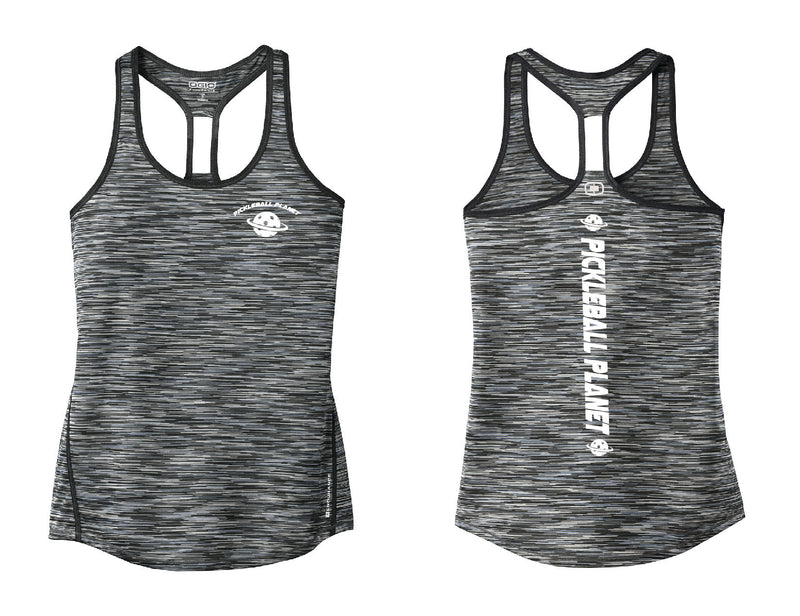 Ladies OGIO Racerback Tank Gray Pickleball Planet