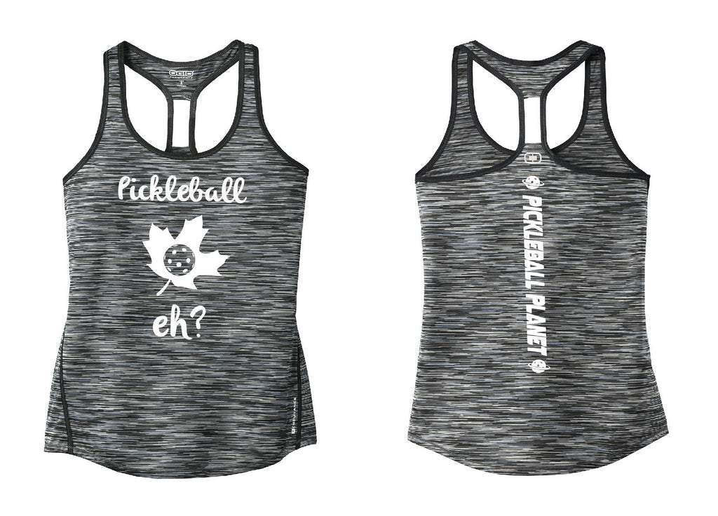 Ladies OGIO Racerback Tank Gray  Pickleball Eh