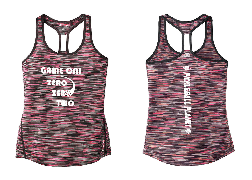 Ladies OGIO Racerback Tank Pink Game On