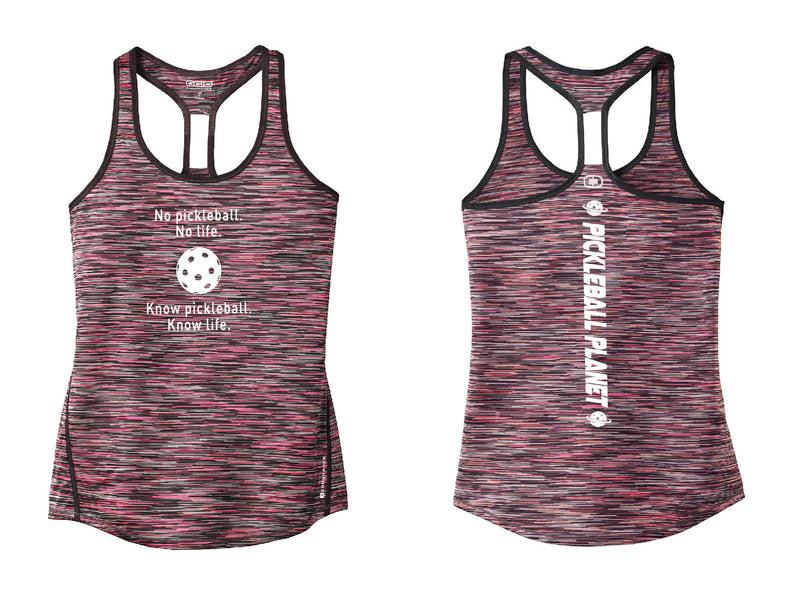 Ladies OGIO Racerback Tank Pink Know Pickleball