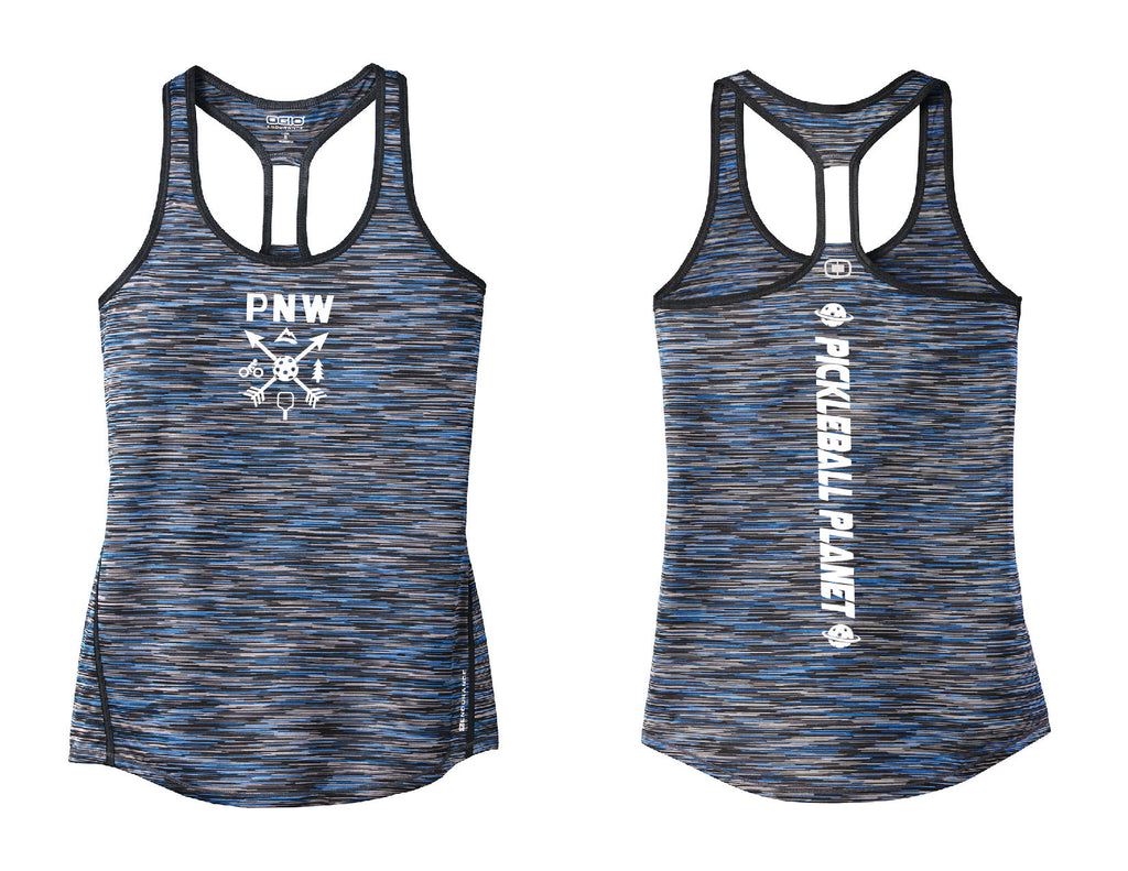 Ladies OGIO Racerback Tank Blue PNW