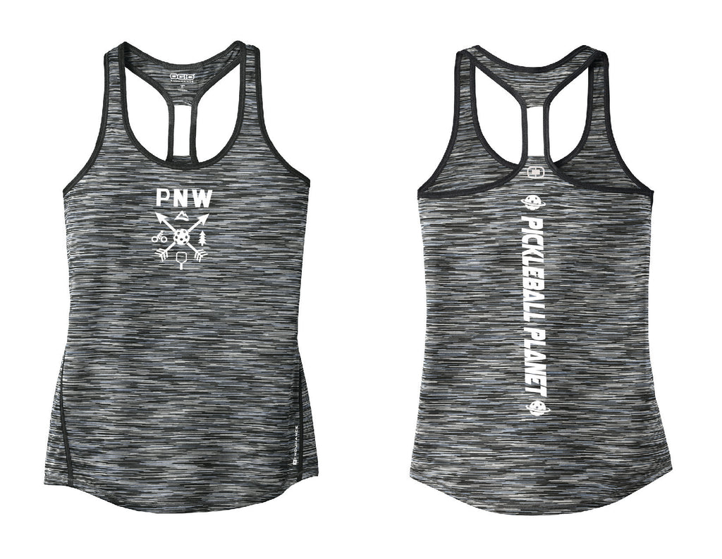 Ladies OGIO Racerback Tank Gray PNW