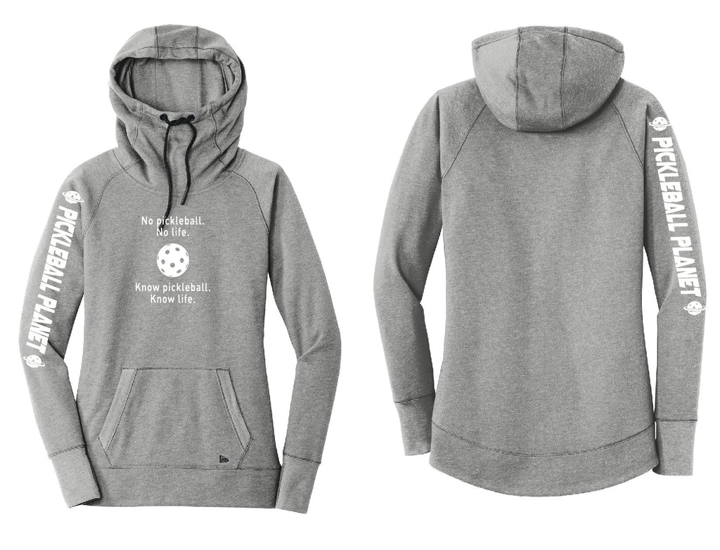 Ladies Pullover Hoodie Shadow Gray Heather Know Pickleball