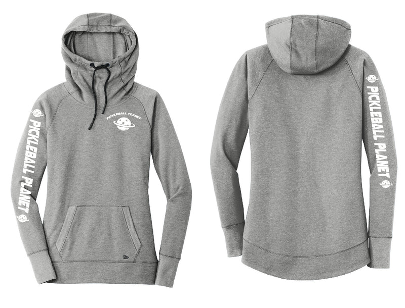 Ladies Pullover Hoodie Shadow Gray Pickleball Planet
