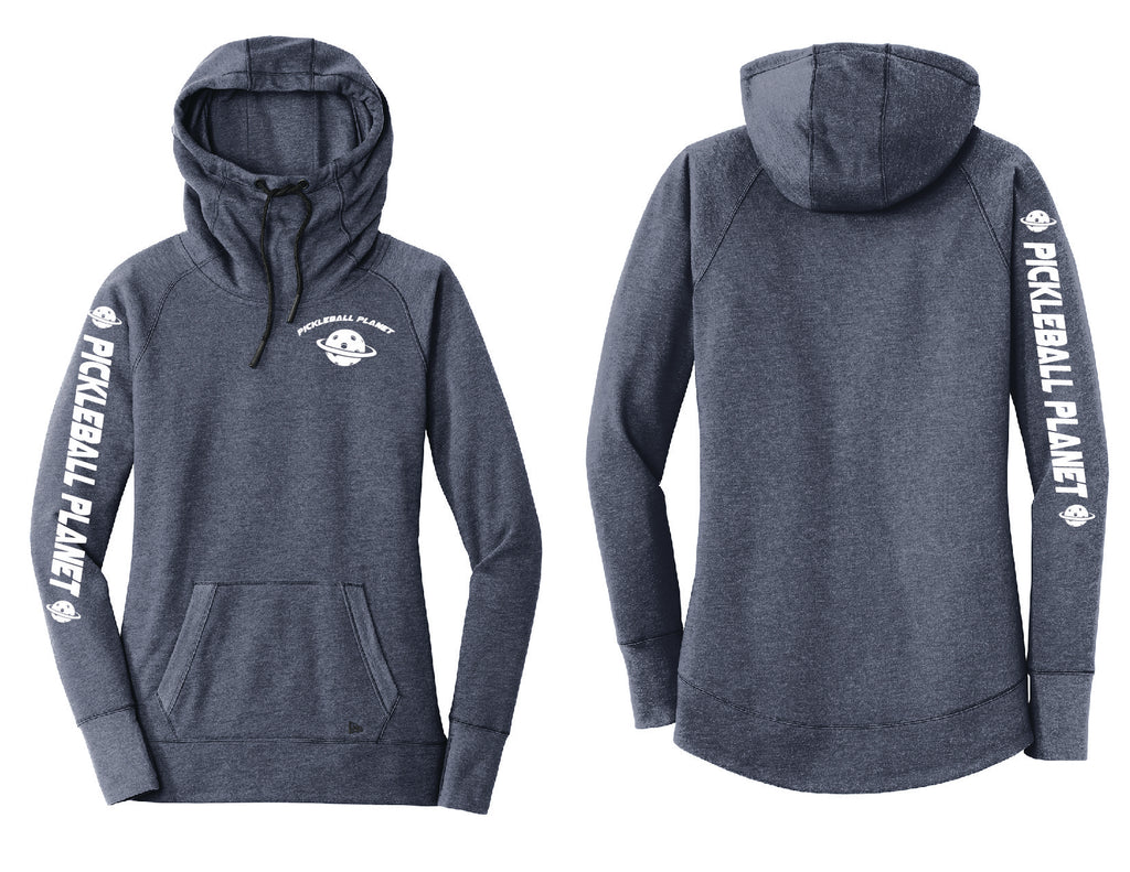 Ladies Pullover Hoodie Navy Blue Pickleball Planet