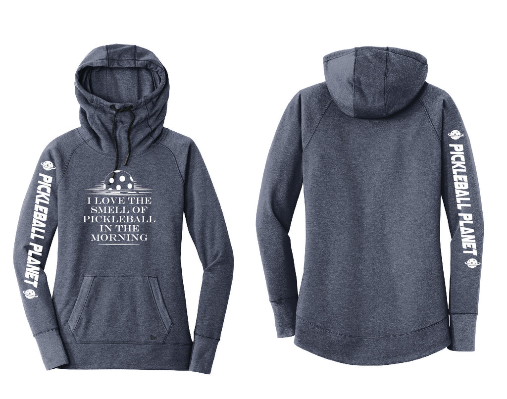 Ladies Pullover Hoodie Navy Blue I Love the Smell