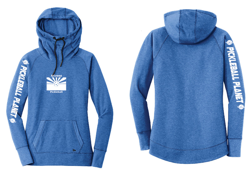 Ladies Pullover Hoodie Royal Blue Heather Arizona Flag