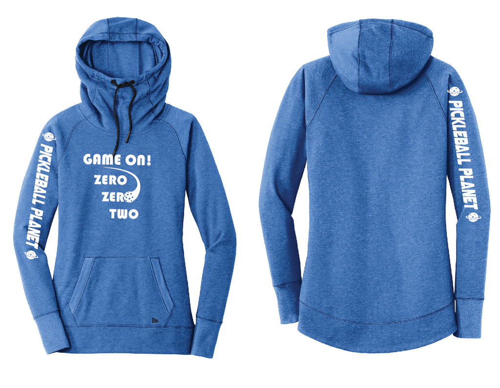 Ladies Pullover Hoodie Royal Blue Heather Game On