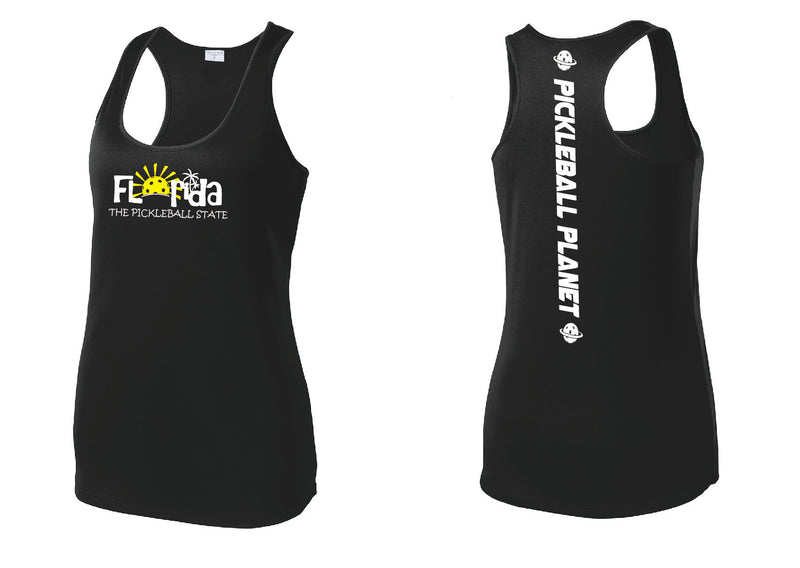 Ladies Racerback Tank Black Florida