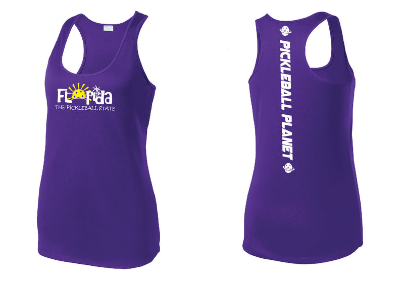 Ladies Racerback Tank Purple Florida