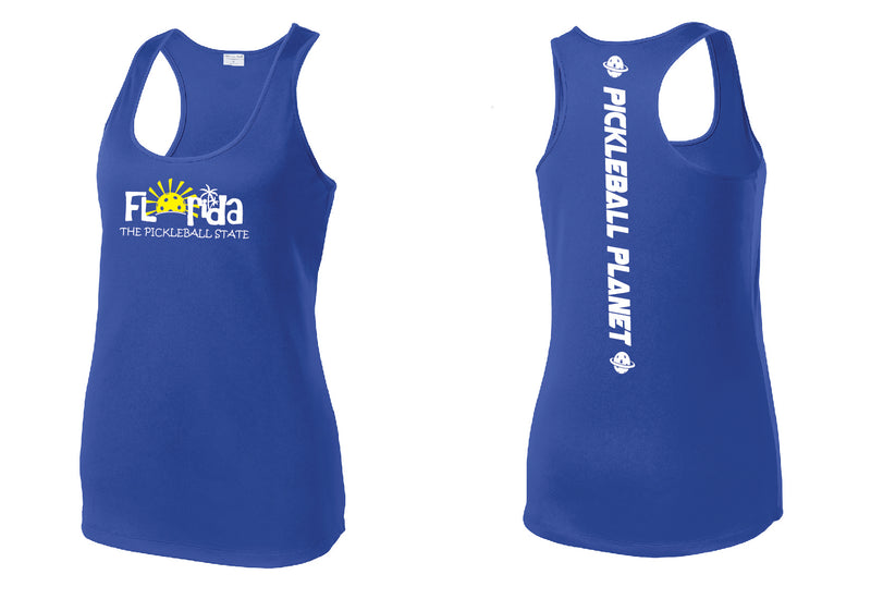Ladies Racerback Tank Royal Blue Florida