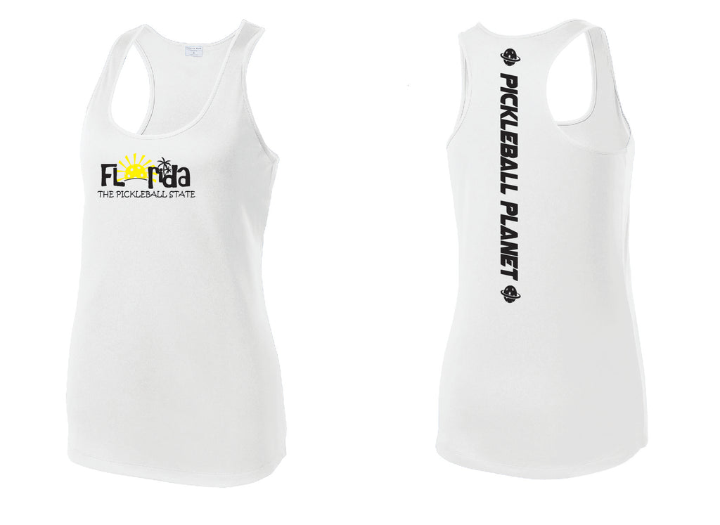 Ladies Racerback Tank White Florida