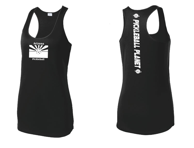 Ladies Racerback Tank Black Arizona Flag