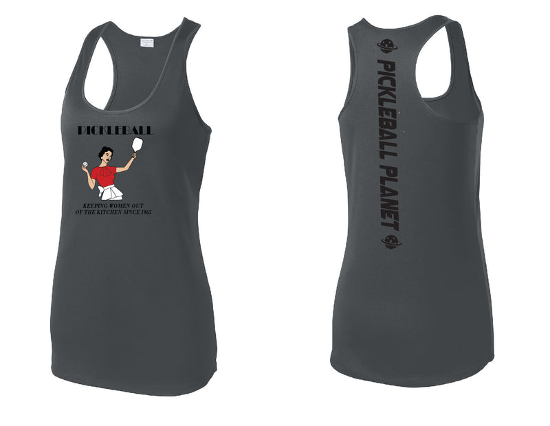 Ladies Racerback Tank Iron Gray Kitchen