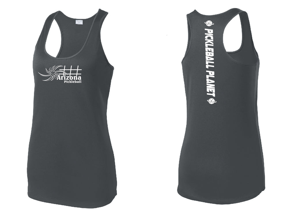 Ladies Racerback Tank Iron Gray Arizona Sun