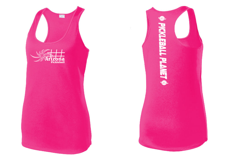 Ladies Racerback Tank Neon Pink Arizona Sun