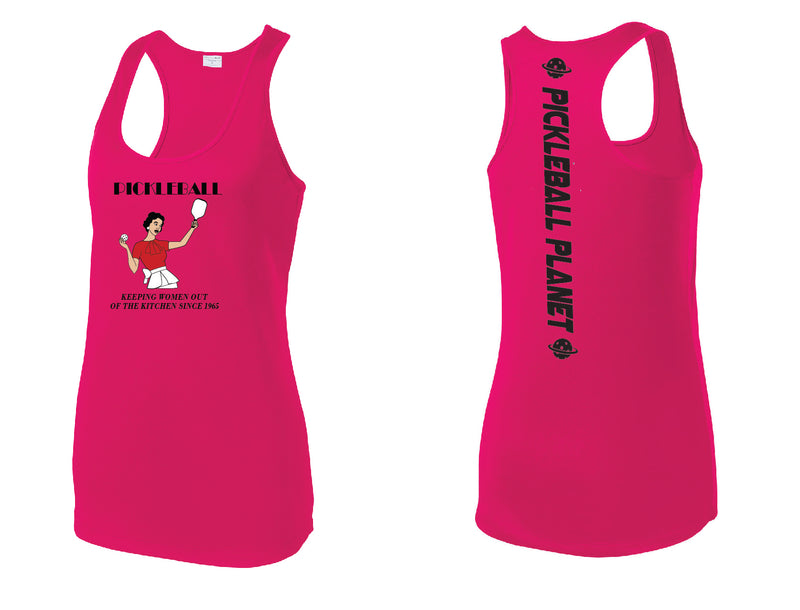 Ladies Racerback Tank Pink Raspberry Kitchen