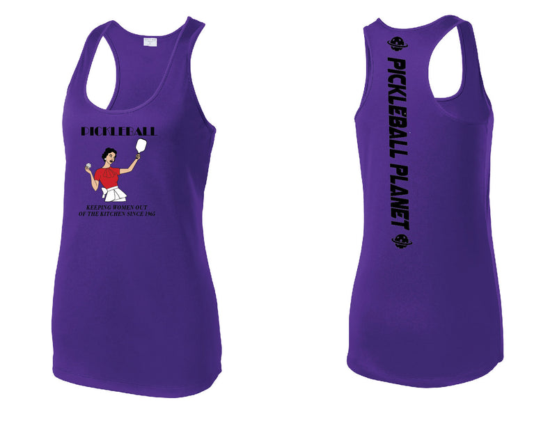 Ladies Racerback Tank Purple Kitchen