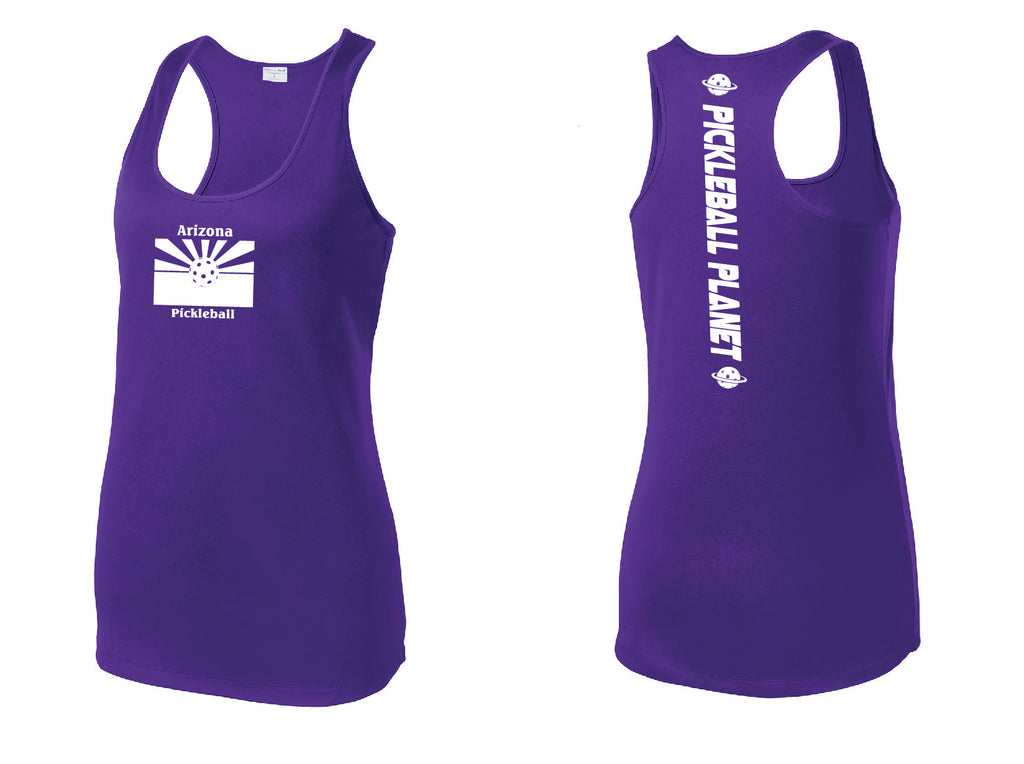 Ladies Racerback Tank Purple Arizona Flag