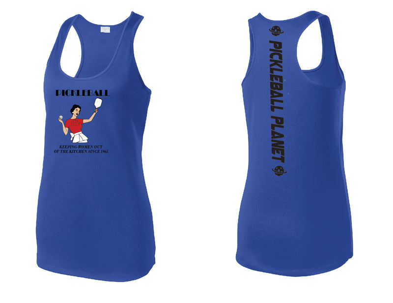 Ladies Racerback Tank Royal Blue Kitchen