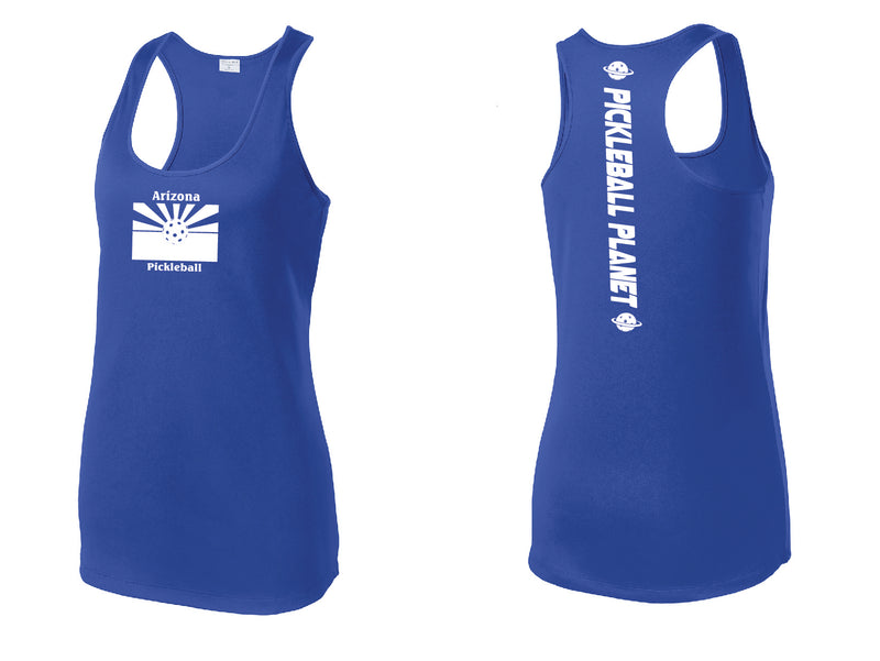 Ladies Racerback Tank Royal Blue Arizona Flag