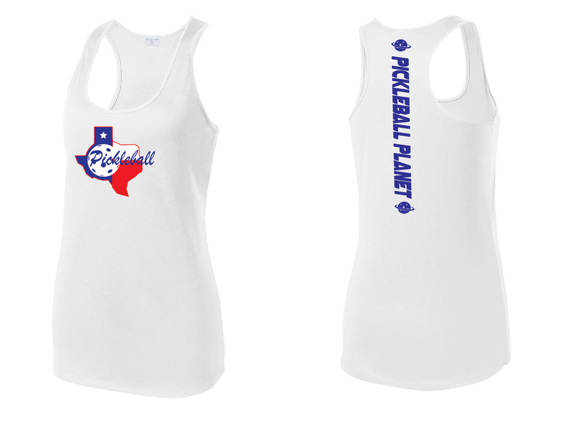 Ladies Racerback Tank White Texas State
