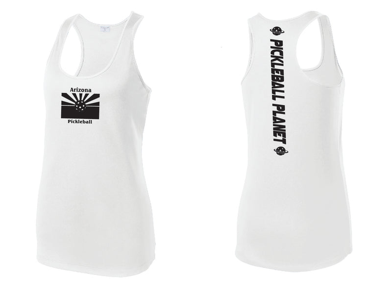 Ladies Racerback Tank White Arizona Flag