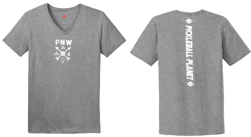 Ladies Short Sleeve Cotton Gray PNW