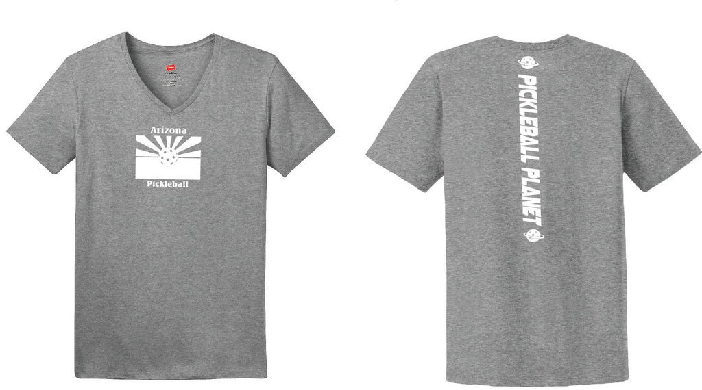 Ladies Short Sleeve Cotton Gray Arizona Flag