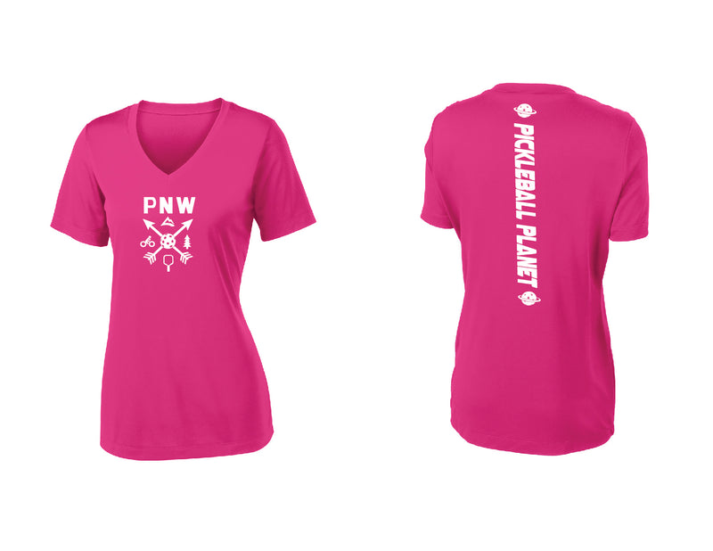 Ladies Short Sleeve Pink Raspberry PNW