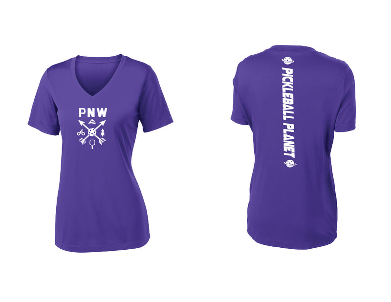 Ladies Short Sleeve Purple PNW