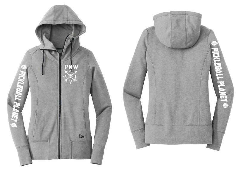 Ladies Full Zip Hoodie Shadow Gray Heather PNW