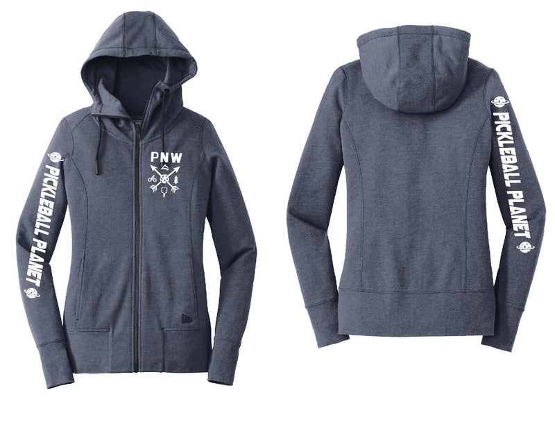Ladies Full Zip Hoodie Navy Blue PNW