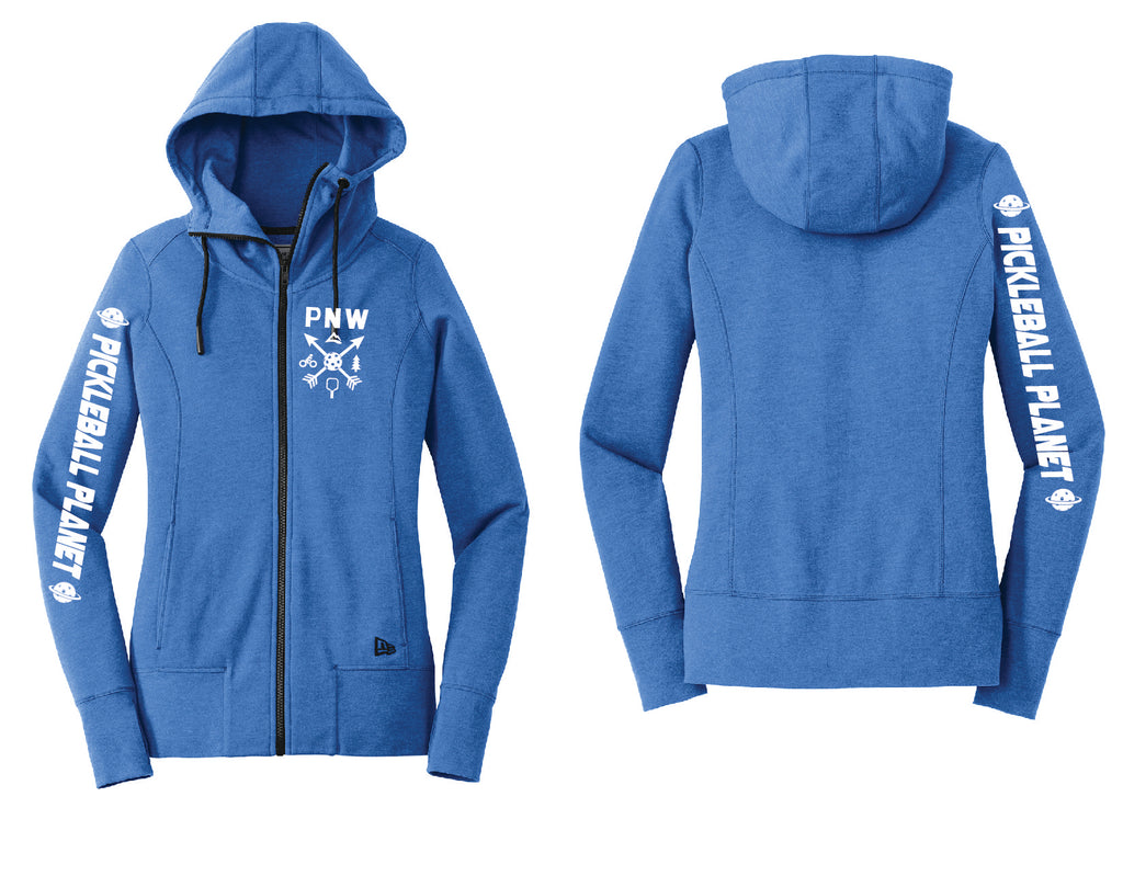 Ladies Full Zip Hoodie Royal Blue PNW