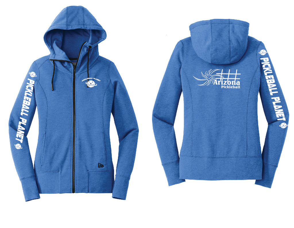 Ladies Full Zip Hoodie Royal Blue Heather Arizona Sun