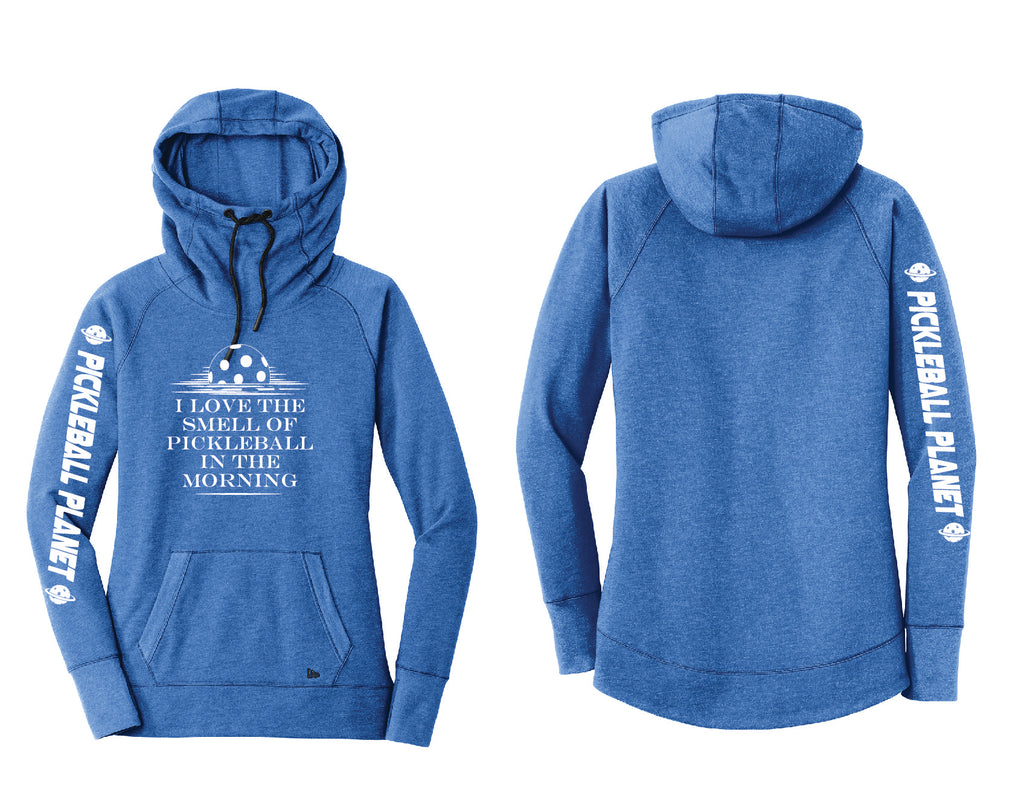Ladies Pullover Hoodie Royal Blue I Love the Smell
