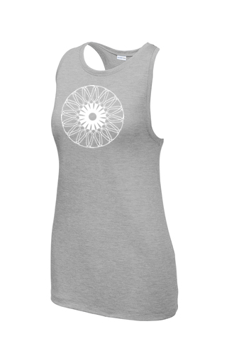 Ladies Sport-Tek ® PosiCharge ® Tri-Blend Wicking Tank 'Kaleidoscope' Design