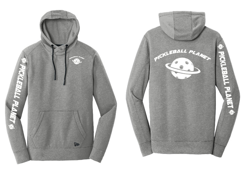 Men's Full Zip Hoodie Shadow Gray Heather Pickleball Planet