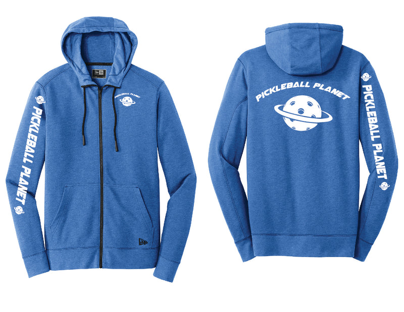 Men's Full Zip Hoodie Royal Heather Pickleball Planet