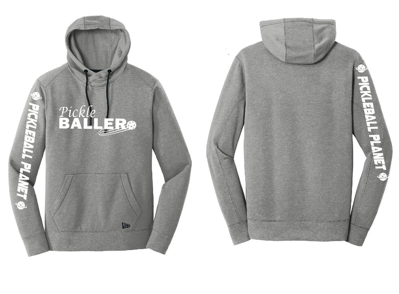 Men's Pullover Hoodie Shadow Gray Heather Pickleballer