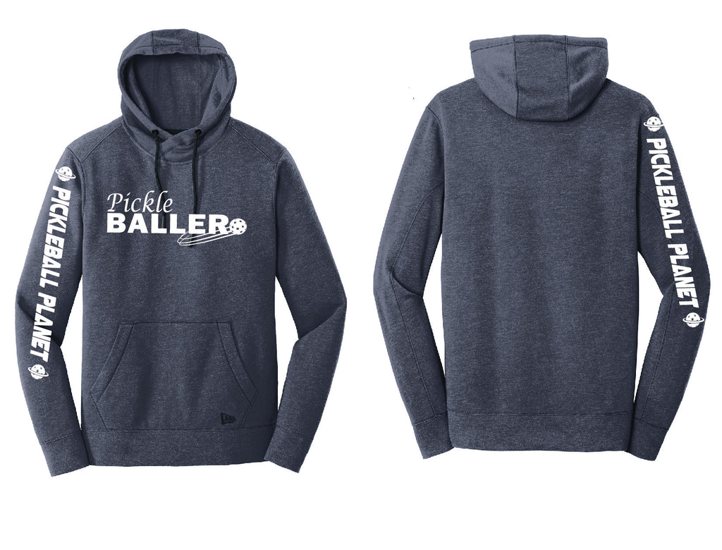 Men's Pullover Hoodie Navy Heather Pickleballer