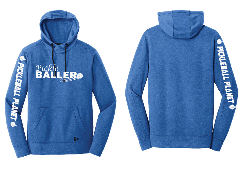 Men's Pullover Hoodie Royal Heather Pickleballer